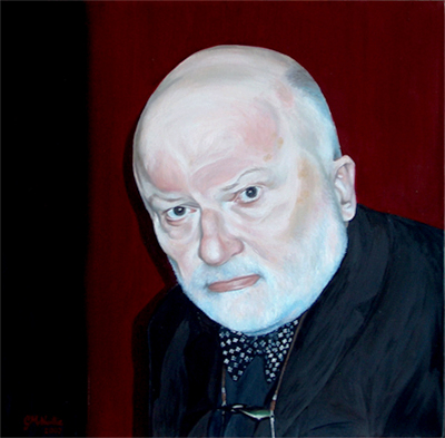 Geoffrey Hill by Gail McNeillie Oil on Canvas, 2007 50cm x 50cm Purchased by Emmanuel College, Cambridge